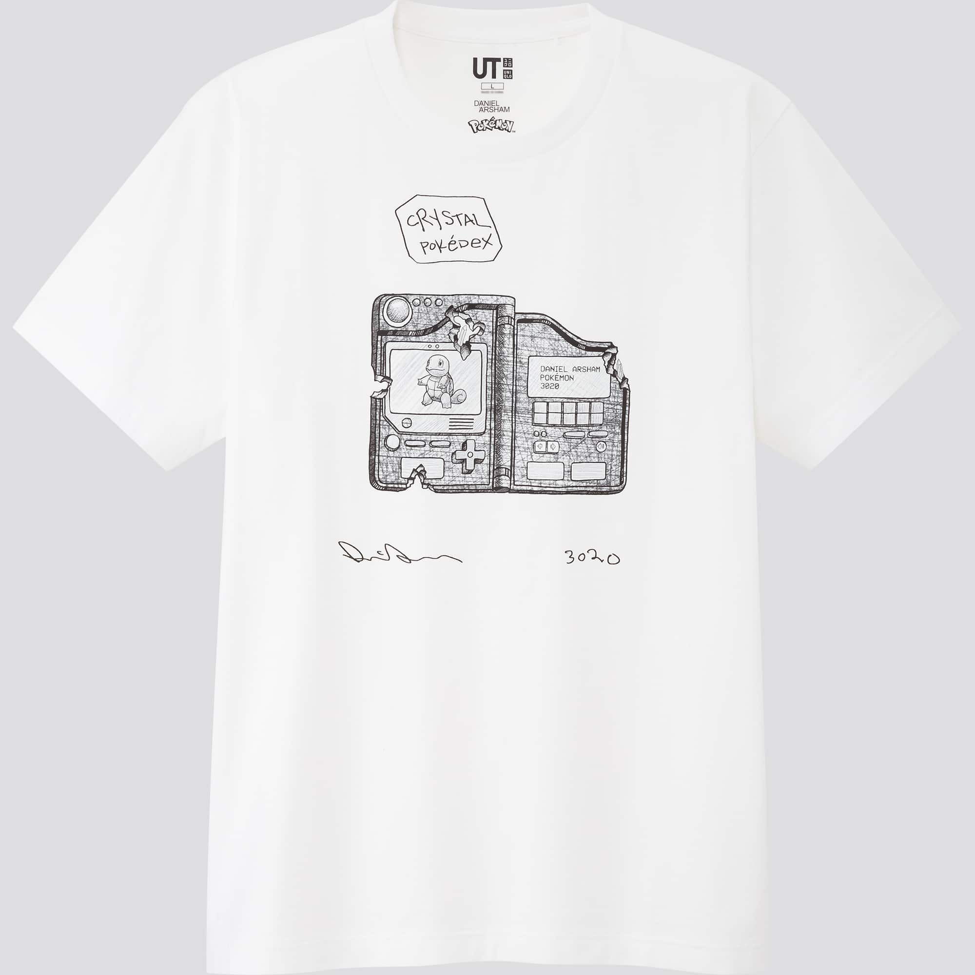 Uniqlo's Daniel Arsham x Pokémon t-shirts feature sketches of Pikachu, Mewtwo, & more 26