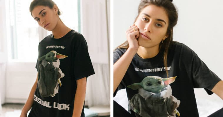 Baby Yoda t-shirt encourages staying home 18