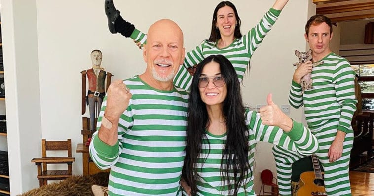 How did exes Bruce Willis and Demi Moore end up quarantining together? 12