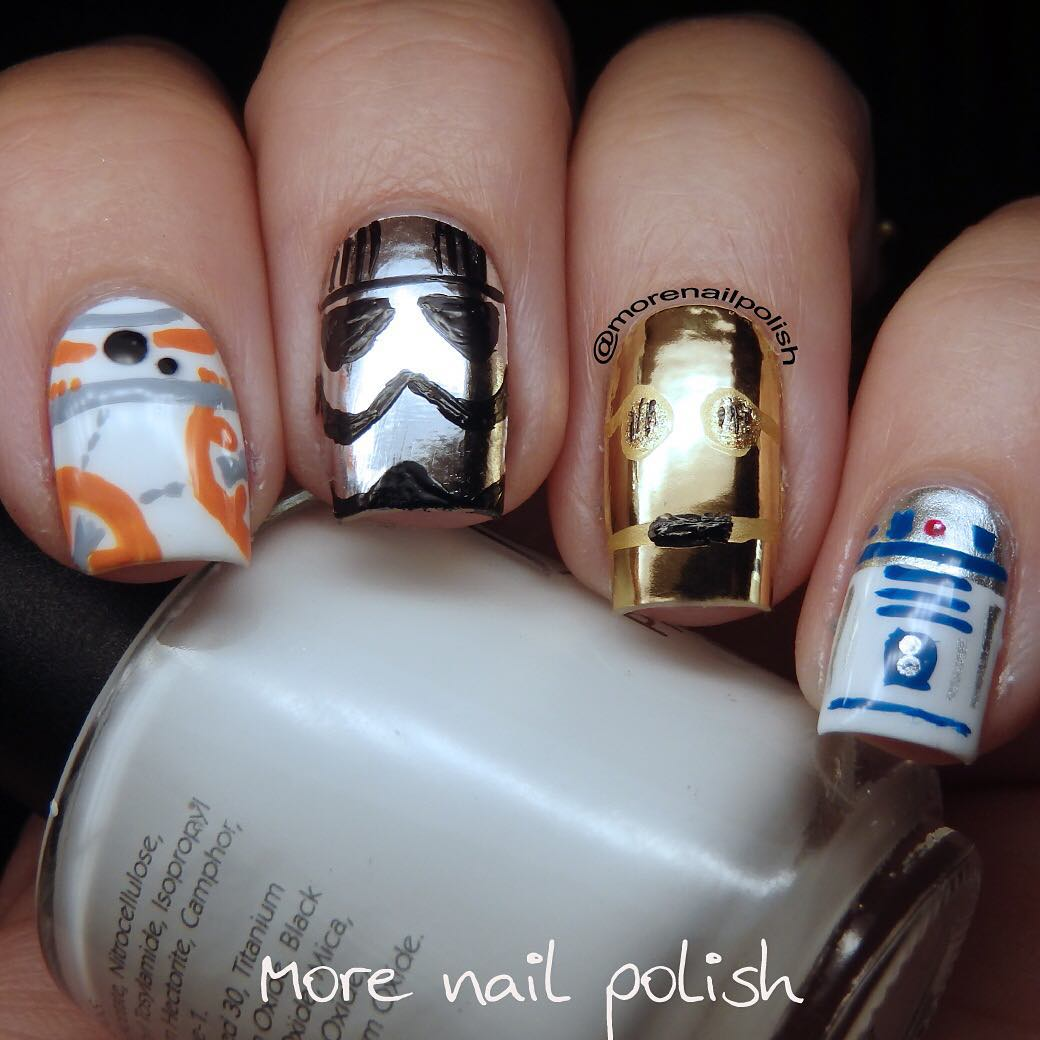 The Force is strong with these spectacular Star Wars nail art designs 16