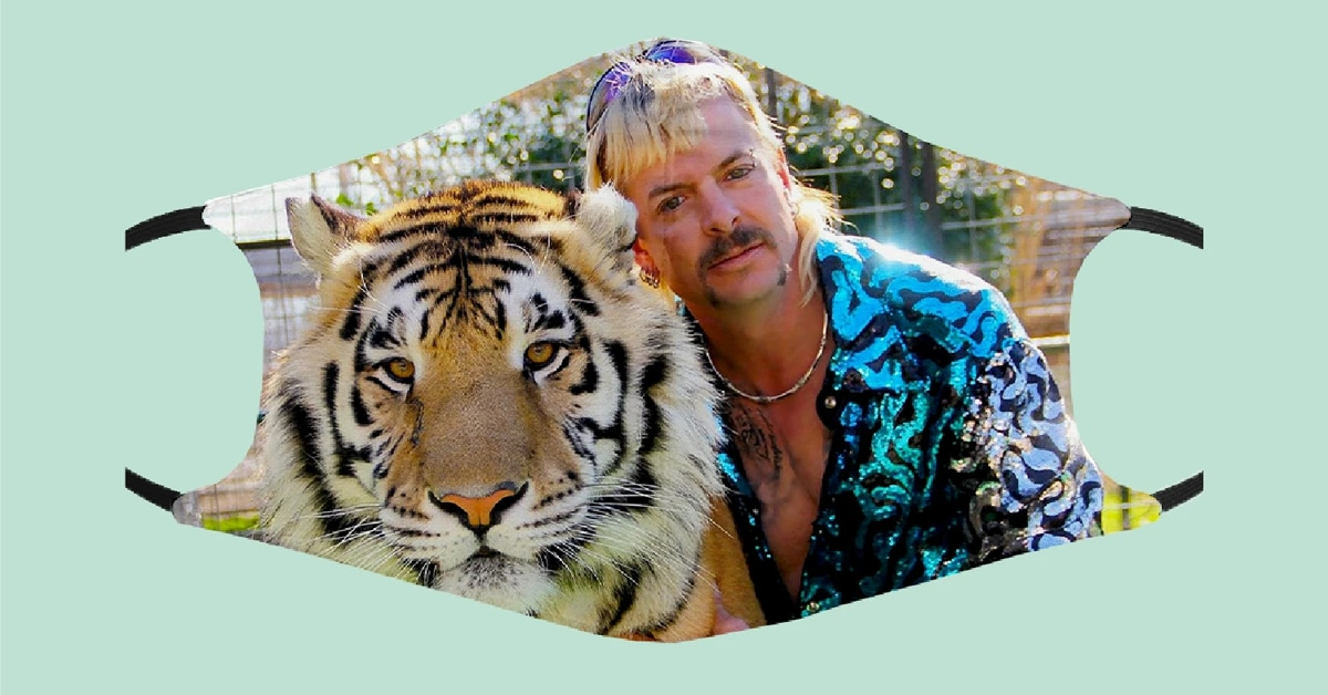 Tiger King face masks are covered in Joe Exotic and John Finlay 17