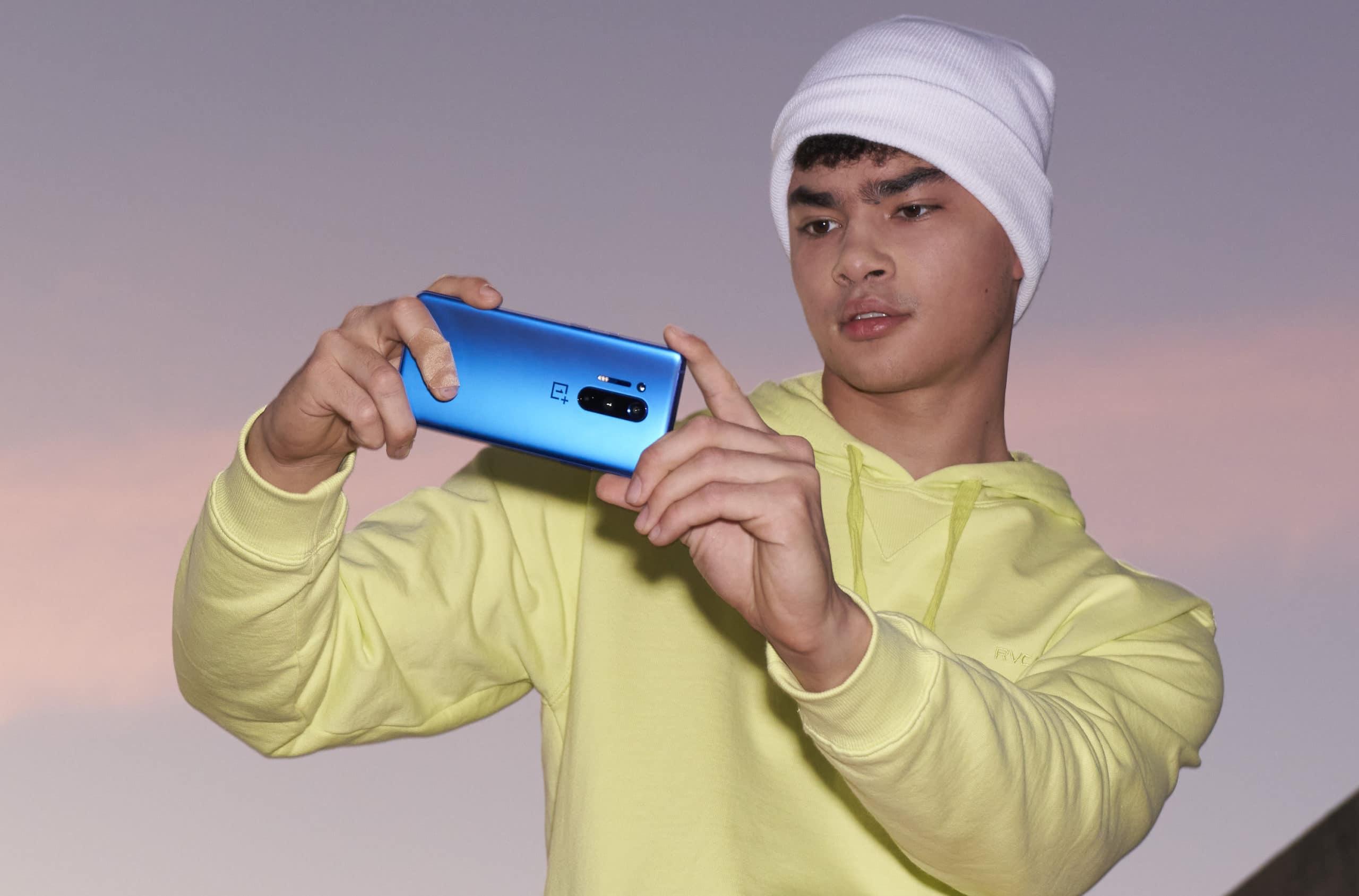 OnePlus 8 Pro in blue