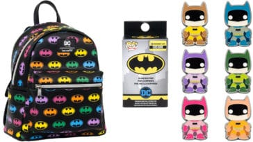 Funko's Rainbow Batman backpack and enamel pins are now available for pre-order 14