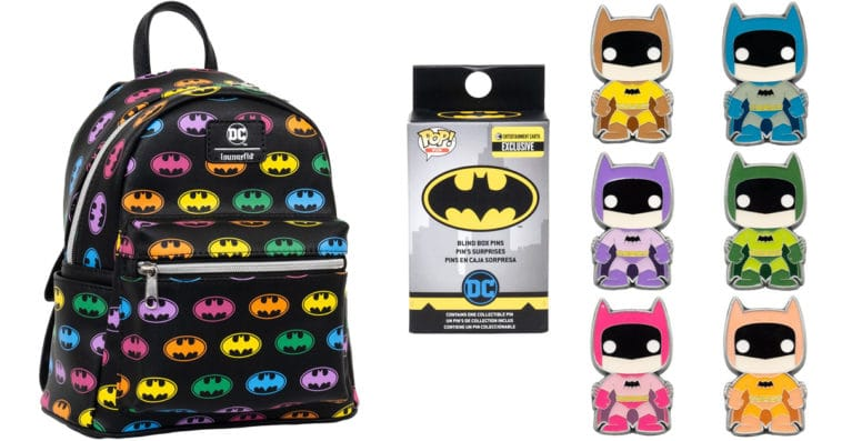 Funko's Rainbow Batman backpack and enamel pins are now available for pre-order 12