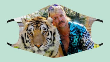 Tiger King face masks are covered in Joe Exotic and John Finlay 25