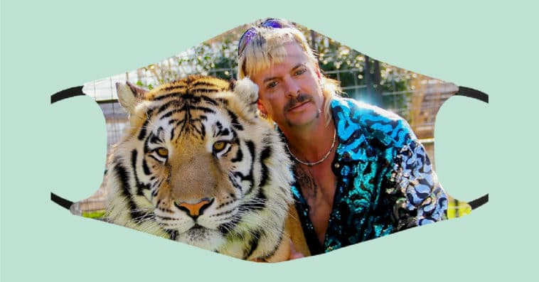 Tiger King face masks are covered in Joe Exotic and John Finlay 12