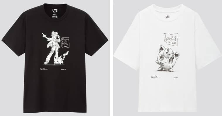 Uniqlo's Daniel Arsham x Pokémon t-shirts feature sketches of Pikachu, Mewtwo, & more 20