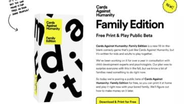 Cards Against Humanity releases a free and printable Family Edition 16