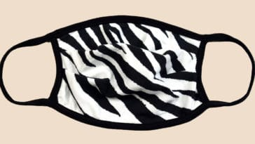 This zebra print face mask is so comfortable to wear, you won't want to take it off 19