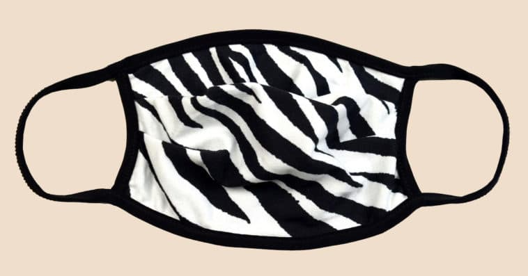 This zebra print face mask is so comfortable to wear, you won't want to take it off 14