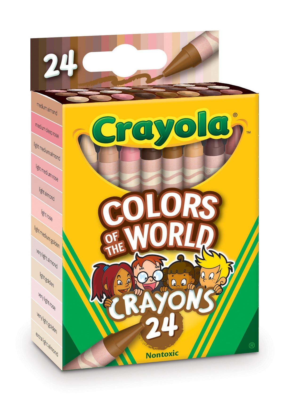 Crayola's Colors of the World crayons represent over 40 skin tones across the globe 14
