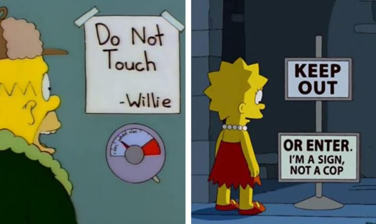 31 times The Simpsons made us ROFL with its hilarious signs 11