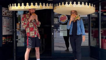 Burger King introduces giant crowns to enforce social distancing among customers 16