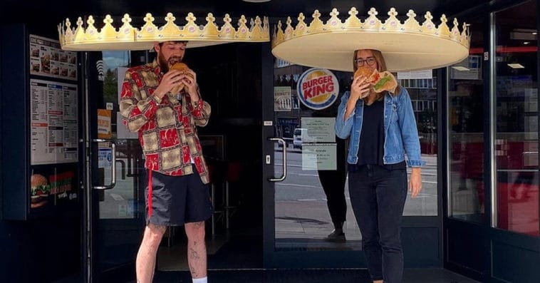 Burger King introduces giant crowns to enforce social distancing among customers 12