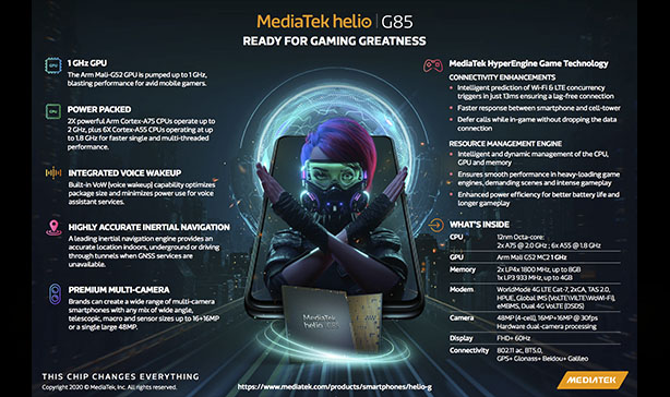 The Helio G85 is MediaTek's latest gaming-centric smartphone chipset 15