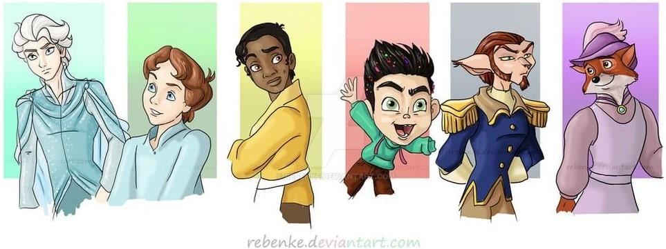 Disney characters reimagined as the opposite gender 55