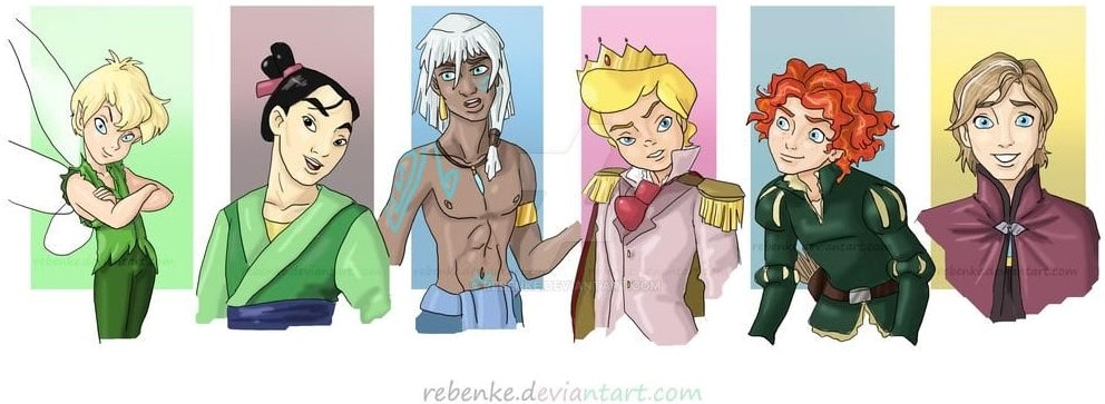 Disney characters reimagined as the opposite gender 56