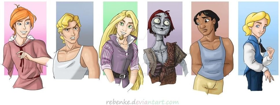 Disney characters reimagined as the opposite gender 57