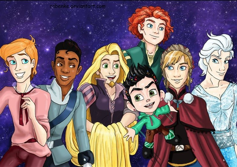 Disney characters reimagined as the opposite gender 58