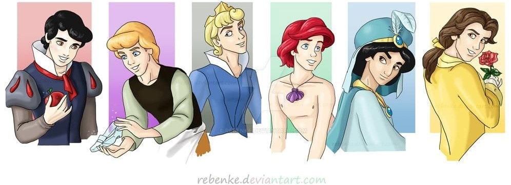 Disney characters reimagined as the opposite gender 52
