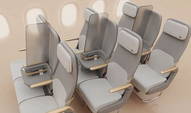 Airplane middle seats are being redesigned for Coronavirus 22