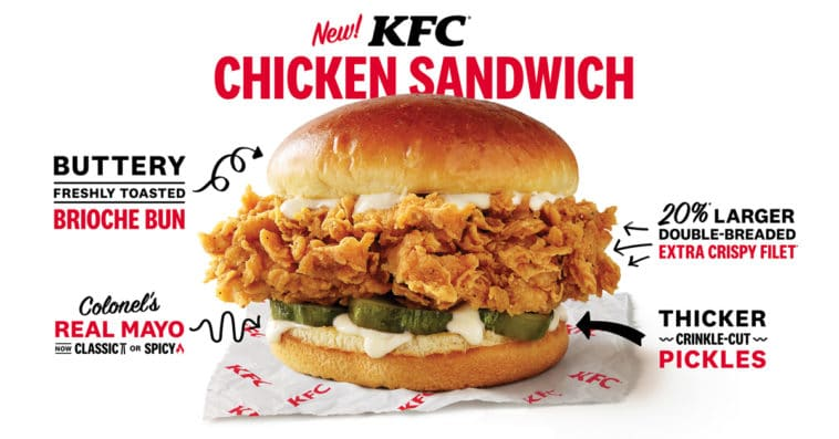 KFC is testing a chicken sandwich that's a lot like Popeyes' 13