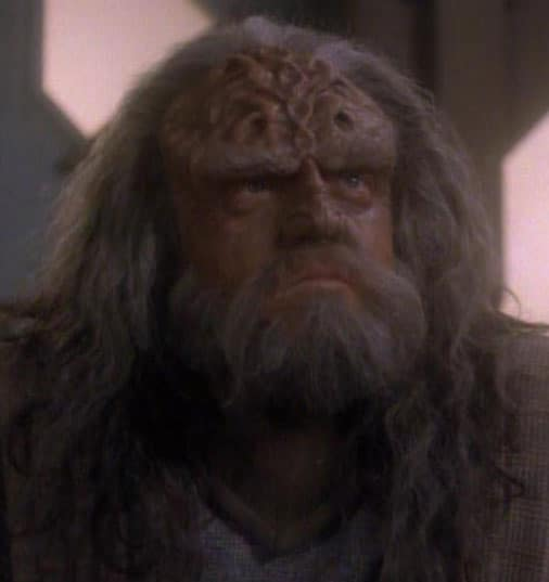Richard Herd as the Klingon L'Kor in Star Trek: The Next Generation
