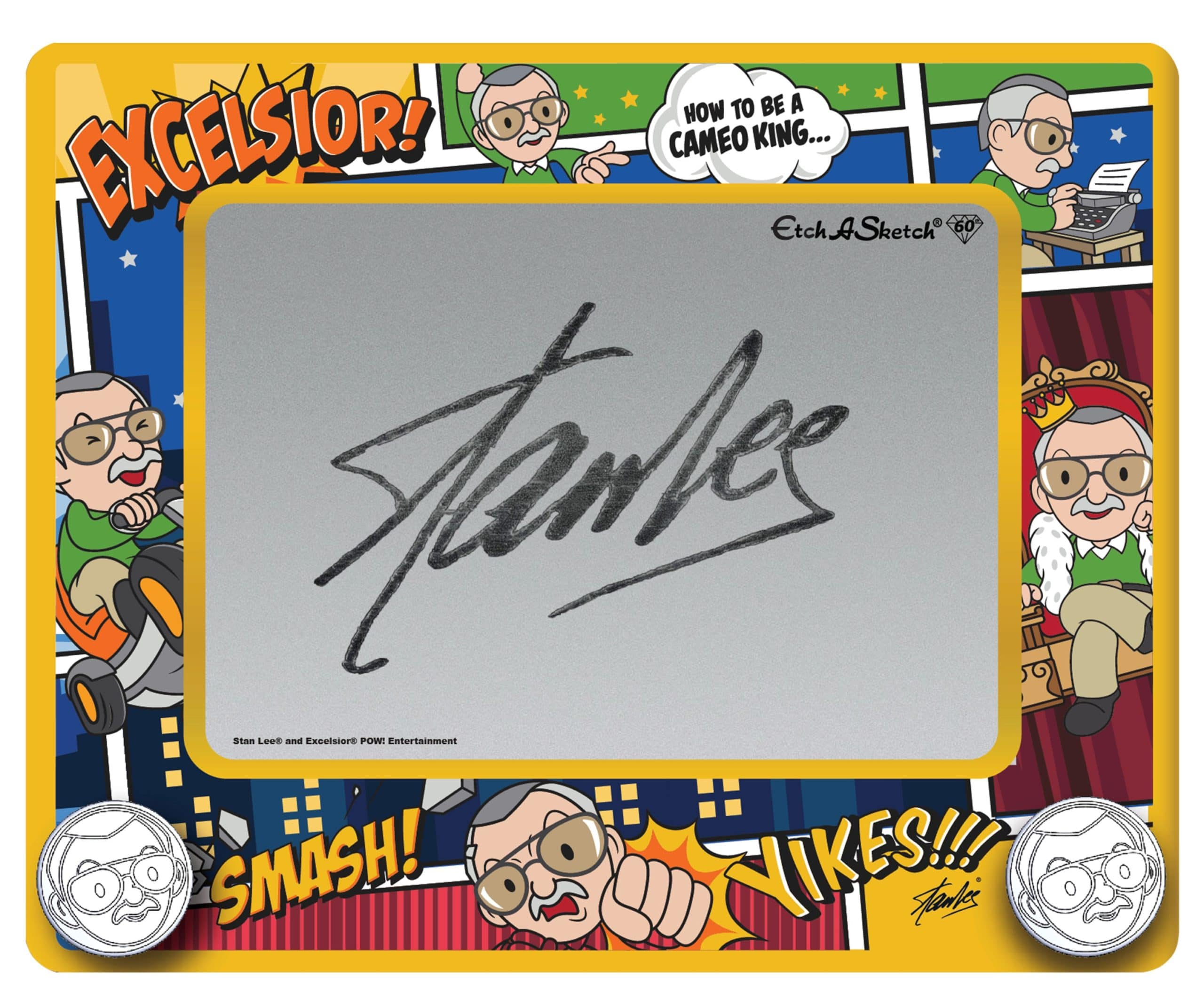 Etch A Sketch Stan Lee Edition inspires artists to create their own comic book superheroes 12