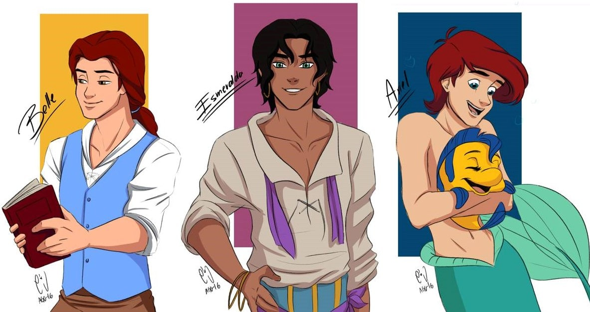 Disney characters reimagined as the opposite gender 53