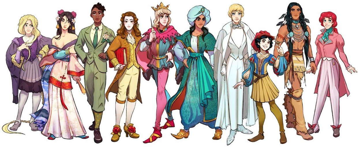 Disney characters reimagined as the opposite gender 59