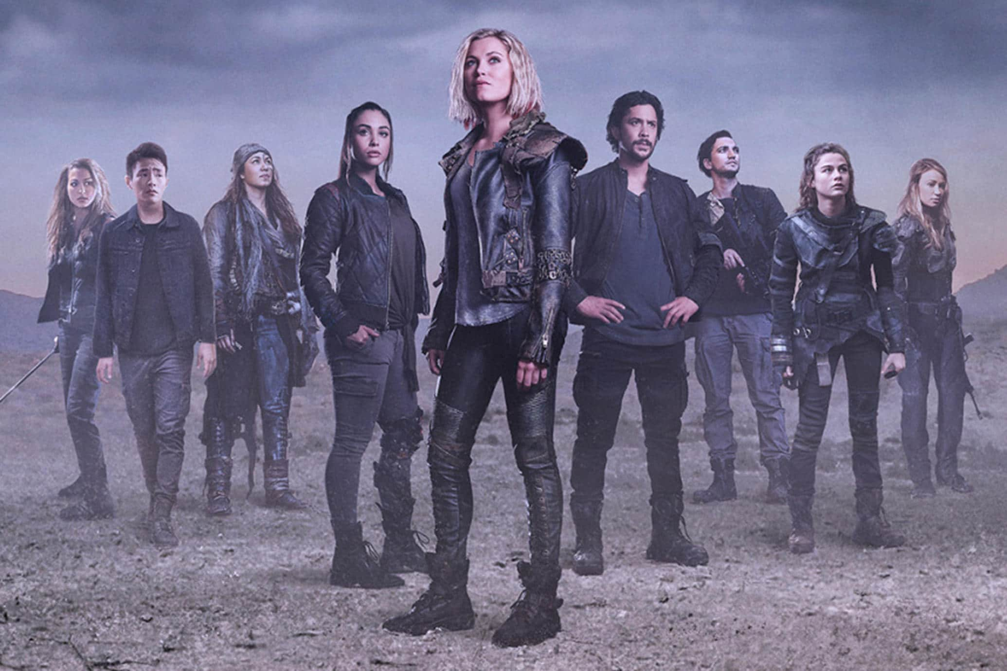 In which year did The 100 become available on Netflix? 45