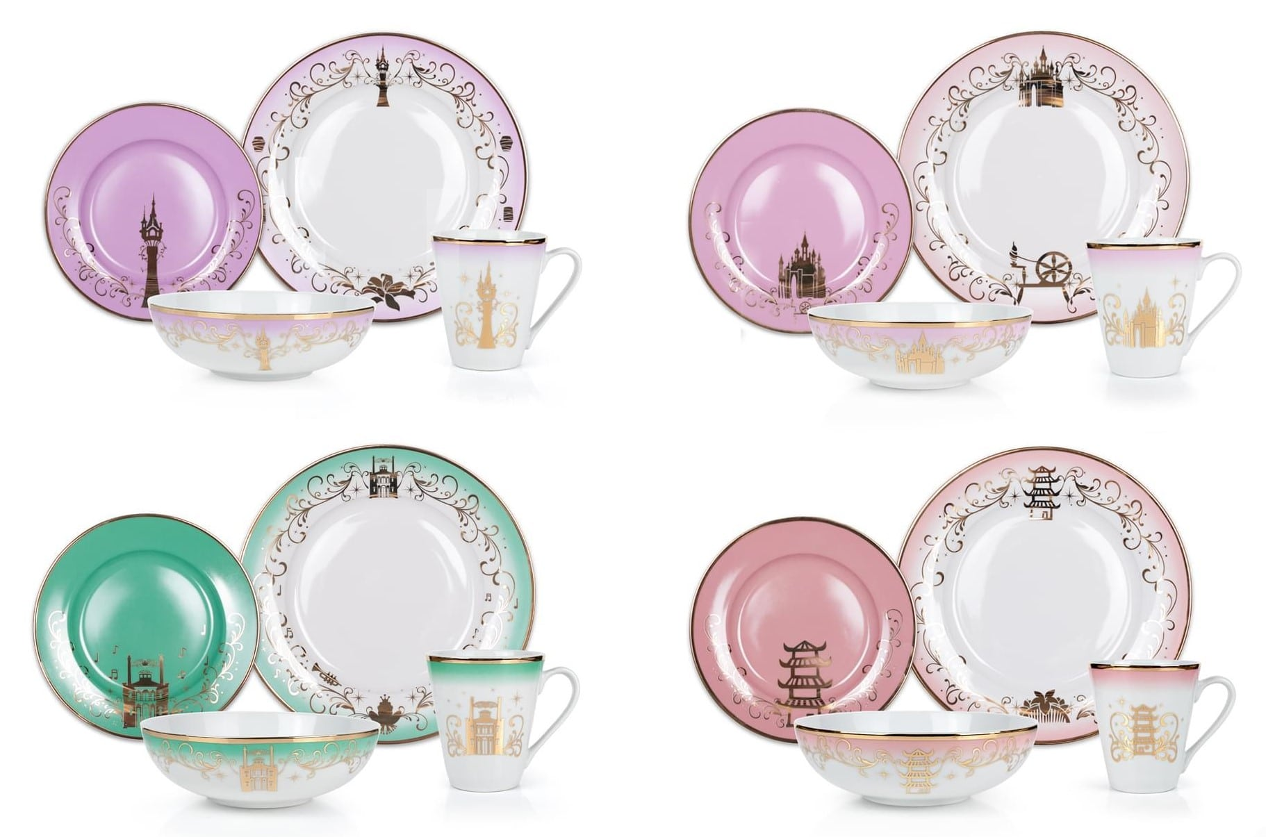 Elegant Disney Princess dinnerware collection features Frozen and Mulan 17