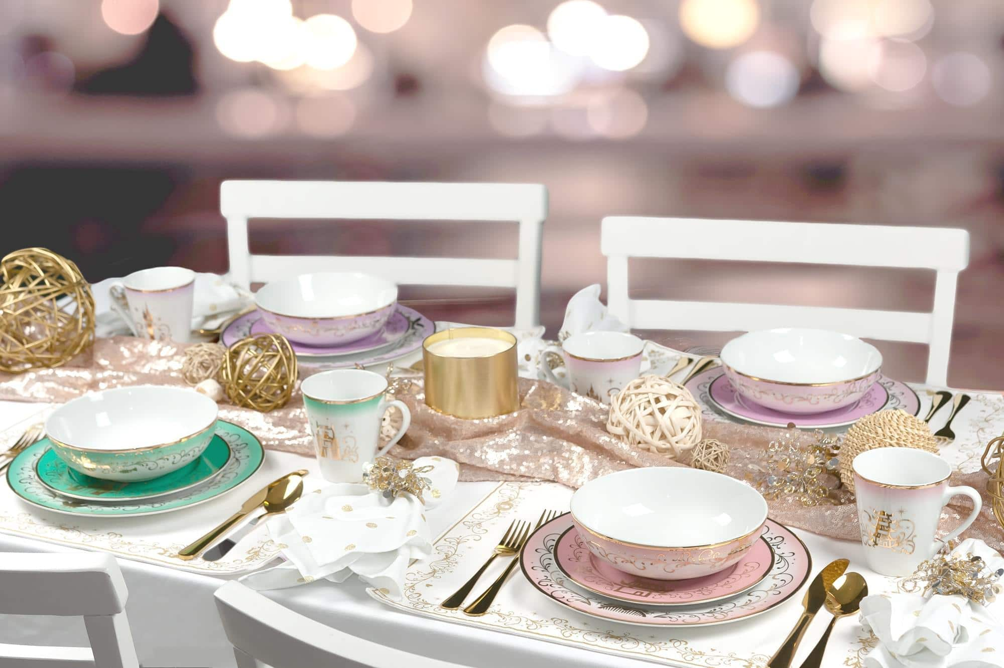Elegant Disney Princess dinnerware collection features Frozen and Mulan 18