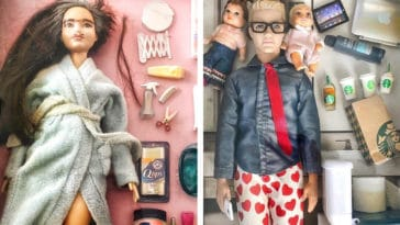 Artist shows how Barbie dolls have adjusted to life in quarantine 25