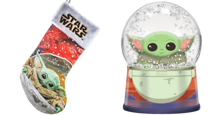 Baby Yoda Christmas stockings, nutcracker and snow globe make us feel like it's Christmas in June 13