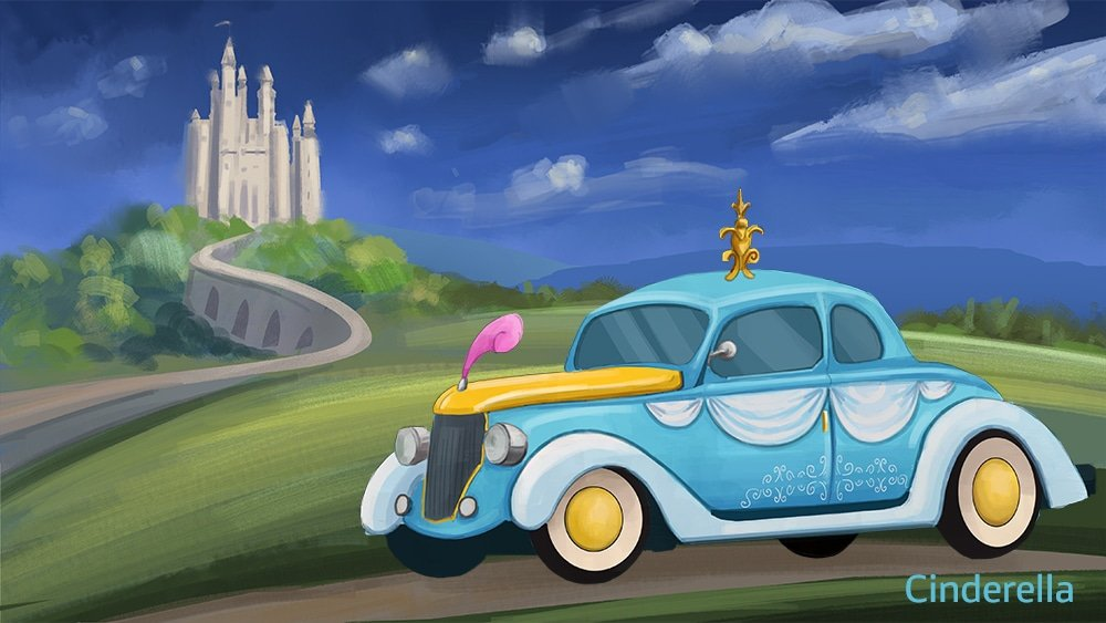 If Disney Princesses had modern-day vehicles 15