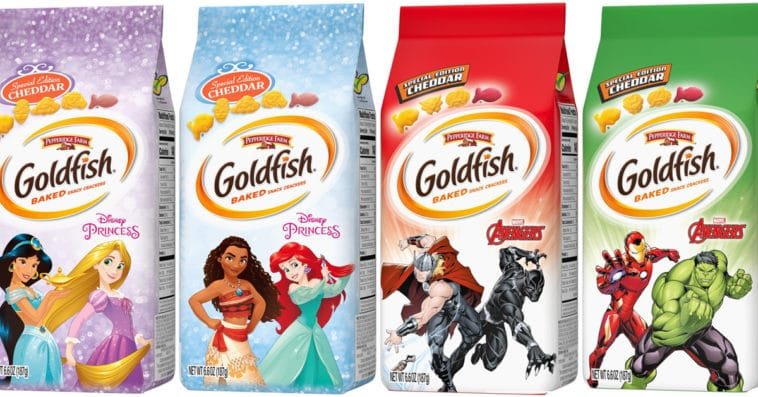 Goldfish unveils cracker packs inspired by Disney Princesses and Marvel's Avengers 13