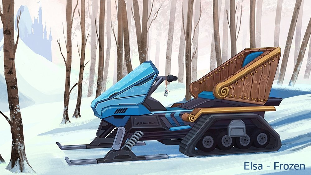 If Disney Princesses had modern-day vehicles 16