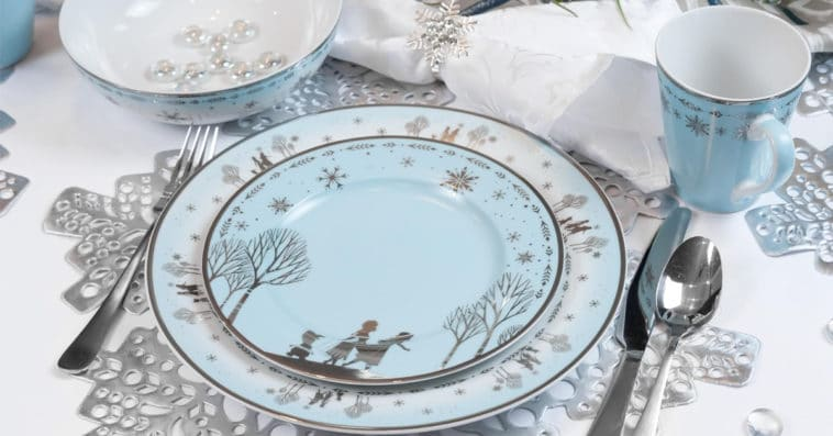 Elegant Disney Princess dinnerware collection features Frozen and Mulan 14