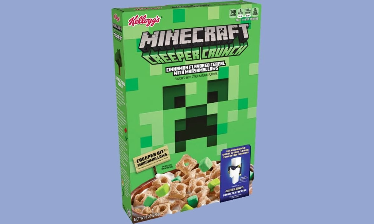 Kellogg S Minecraft Creeper Crunch Cereal Won T Let Gamers Skip Breakfast Again Geekspin