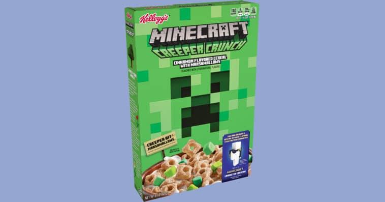 Kellogg's Minecraft Creeper Crunch cereal won't let gamers skip breakfast again 13