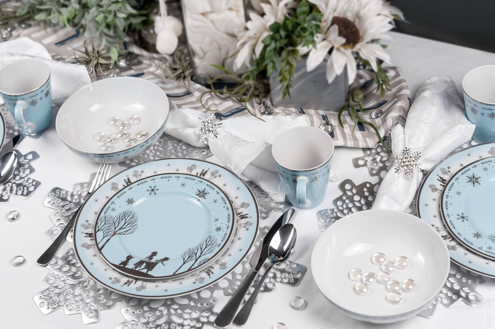 Elegant Disney Princess dinnerware collection features Frozen and Mulan 16