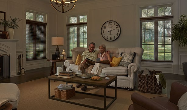 Serena smart wood blinds automatically adjust to natural light throughout the day 13