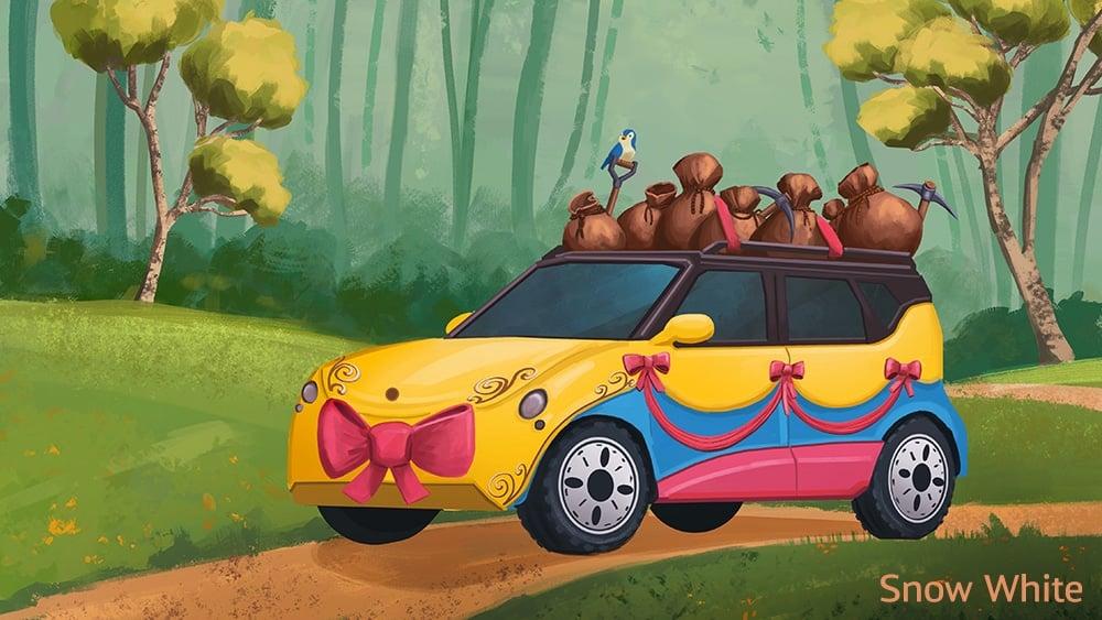 If Disney Princesses had modern-day vehicles 20