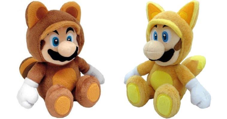 Adorable Super Mario Bros. plushes feature powered-up Luigi and Mario 11