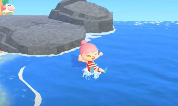 You can now go swimming in Animal Crossing 12