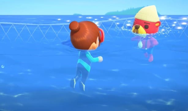 You can now go swimming in Animal Crossing 13