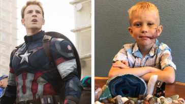 Captain America's Chris Evans is sending a special gift to Bridger Walker 18