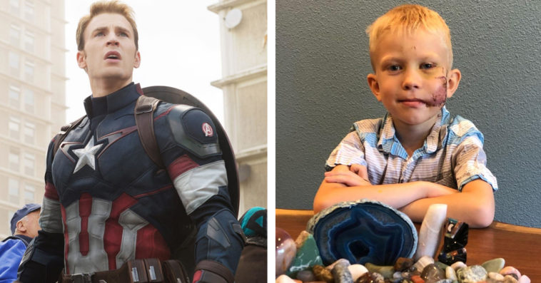 Captain America's Chris Evans is sending a special gift to Bridger Walker 19