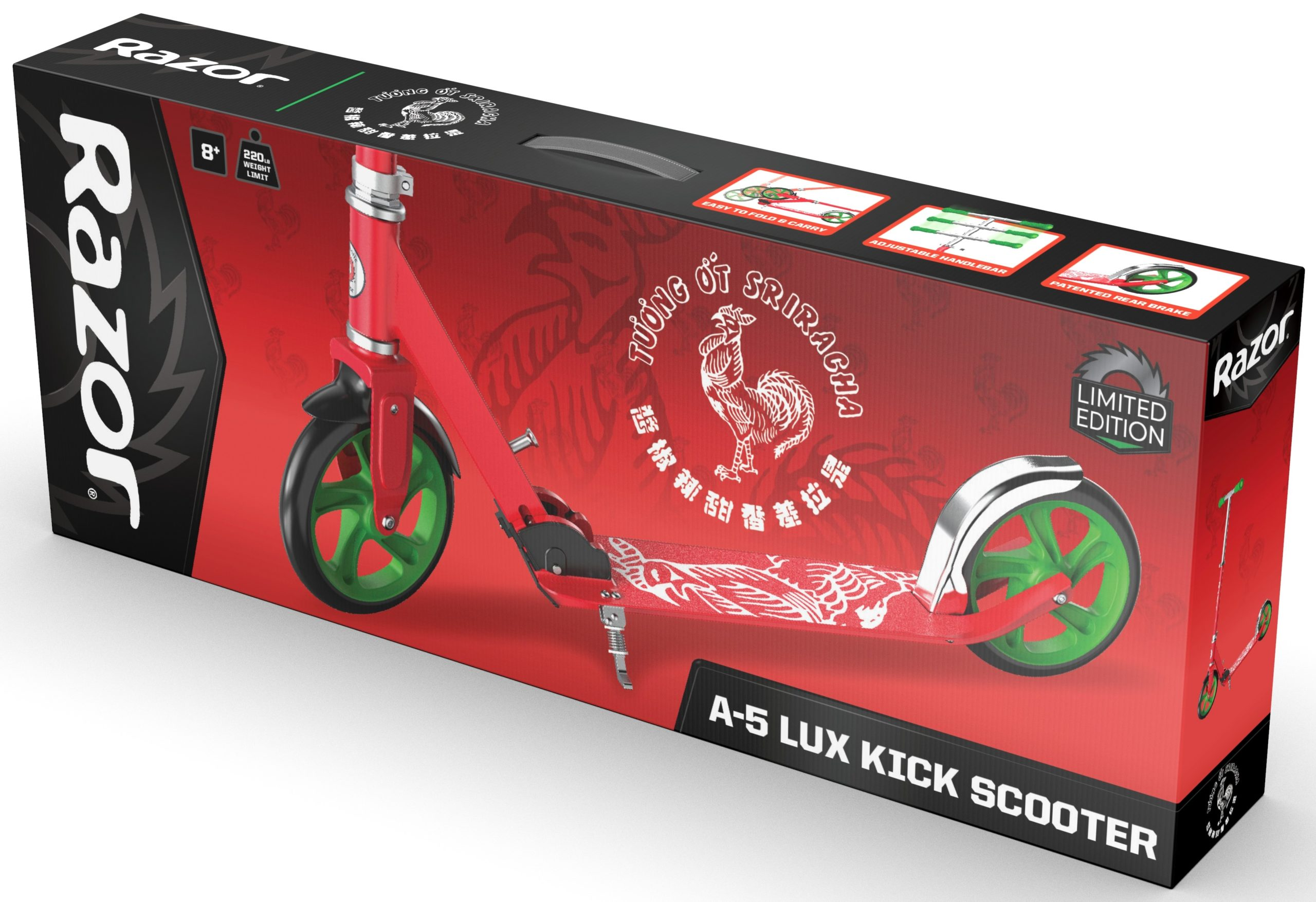 These Razor scooters are inspired by AriZona Iced Tea, Sharpie, Sriracha, and Takis Snacks 17